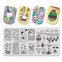 BEAUTYBIGBANG Nail Stamping Plates Sunday Easter Art Image Stamp Template US