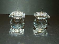 2 Swarovski Crystal Candle Holders Light Pin Style Vintage