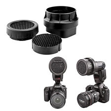 3-en-1 Grille Nid d'Abeilles pour Flash Canon 540EZ Sony HVL Canon 600EX Pentax
