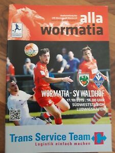 Programmheft / Stadionheft Wormatia Worms - SV Waldhof Mannheim 17.10.2015