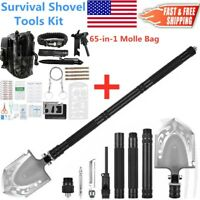 Survival Tactical Shovel Spade Kit Outdoor Camping Hunting Multi Tools Molle Bag