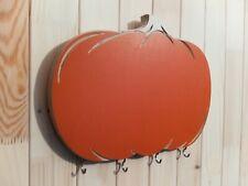 Handmade kitchen message board Pumpkin with 5 hooks and chalkboard