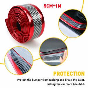 Car Carbon Fiber Door Plate Bumper Sill Scuff Cover Anti Scratch Sticker Guard D