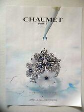PUBLICITE-ADVERTISING :  CHAUMET Collection Hortensia Bague Voie Lactée  2016 Jo