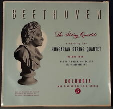 COLUMBIA 33CX 1203 UK ED 1 BEETHOVEN STRING QUARTETS 4 HUNGARIAN STRING QUARTET