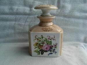 Antique Large Paris Porcelain Scent Bottle & Stopper