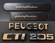 Peugeot 205 CTI Reproduction Rear Badge Complete Set + Side Badges P2 Chrome