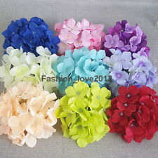 10 Silk Hydrangea Flower Heads 6 inch For Wedding Party Decor Table Centerpieces
