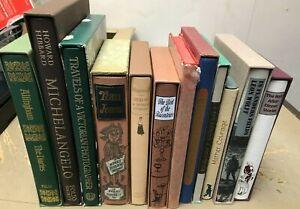 Job Lot of 12 Folio Society Books (B4)