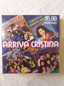 """Ultimi pezzi   4 CD BOX CRISTINA D'AVENA """"ARRIVA CRISTINA STORY"""" SIGILLATO"""