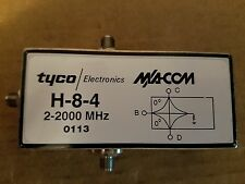 M/A-COM Tyco H-8-4 SMA(f) Broadband Two-Way Power Divider 2GHz RF Microwave #113