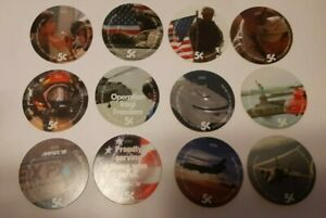 3th Print Set 5 Cent AAFES  Pogs 2003 printing  A.U. Military Tokens