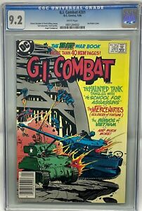 G.I. Combat #281 CGC 9.2 White Pages DC Comics 1986 The Haunted Tank