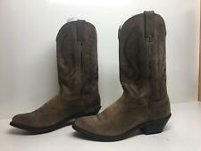 VTG WOMENS UNBRANDED COWBOY BROWN BOOTS SIZE 8.5 M