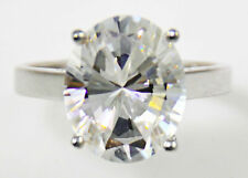 Cz Sterling Silver Size 7 Oval Ring Vintage Brilliant Top Russian