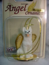 WHITE GERMAN SHEPHERD dog ANGEL Sheperd Ornament Figurine Statue Christmas puppy