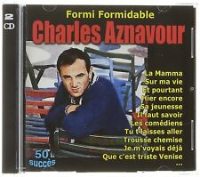 Formi Formidable Charles Aznavour 2 CD 50 succès NEUF sous cellophane