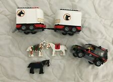Lego Set #7635 Extra Pieces Limited Edition-3 Horses-2 Trailers/Jeep/1 Figurine