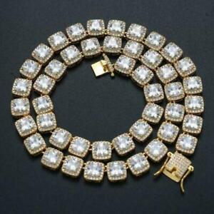 Baguette Tennis Iced Flooded Out 14K Gold -plated Hip Hop Bracelet Men's A9003-G
