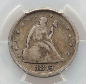 1875-S PCGS F12 20C Twenty Cent Piece Better Date Type Coin Fine FS-302 MPD RPM