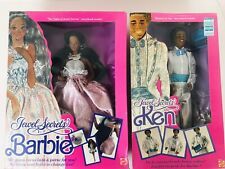 Vintage Set Jewel Secrets Ken Barbie Dolls African American Dolls #3232 #1756