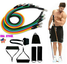 11pcs Resistance Band Rope FitnessTubes Cords Home Workout Training Crossfit