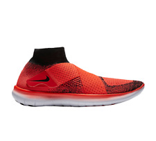 NIKE FREE RN MOTION FK 2017 Flyknit Running Trainers Size 10.5 (EU 45.5) Crimson