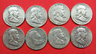 8+Coins-+Circulated+Franklin+half+dollars.+90%25+silver.+8+Different.+%28921288%29