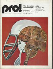 1973 New York Jets Program vs Patriots Shea Stadium November 11