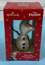 Hallmark Disney Frozen Olaf Blown Glass Christmas Tree Ornament Premium NEW NIB