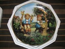 "Hummel Apple Tree Boy & Girl Companions 8"" Collectors Plate Danbury Mint lot#2"