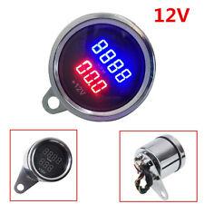 Universal Motorcycle PRM Waterproof LED Digital Tachometer Voltmeter Gauge Combo