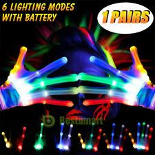 Electro LED Finger Flashing Gloves Light Up Xmas Dance Rave Party Toys Christmas