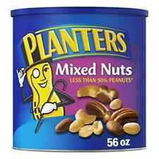 Planters Mixed Nuts with Sea Salt, 56 oz. Resealable Canister - Roasted Nuts:
