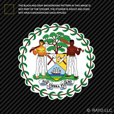 Belizean Coat of Arms Sticker Decal Self Adhesive Vinyl Belize flag BLZ BZ