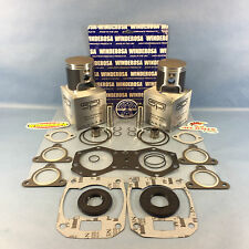 "NEW POLARIS .040"" OVER SPI PISTONS COMPLETE GASKET KIT 1999-2003 550 FAN RMK SKS"