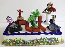 Avengers 15 Birthday Cake Topper Captain America Iron Man Hulk Thor Decorative
