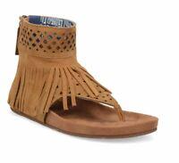 Dingo Heat Wave Casual Fringe Ankle Sandals Camel Brown SZ 8.5 NEW DI139 Women's