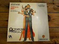 OCTOPUSSY ROGER MOORE LASERDISC PAL LD EX COVER EX ORIGINAL 1983
