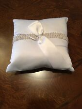 Ring Bearer Bling Square Pillow Hortense B. Hewitt Co. with Rhinestones 8�x8�