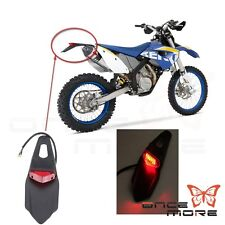 Motocross Off Road LED Taillight Rear Fender Lamp For Honda XR400 CRF250 CRF450