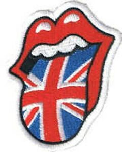 Rolling Stones Lips Union Jack Rock Band Iron on/ Sew on Embroidered patch 80mm
