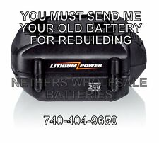 Rebuild service for Worx 24-Volt WA3524 Lithium-Ion battery 3.0 A/H