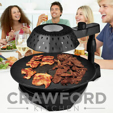 NEW Crawford Kitchen Indoor Infrared Grill Griddle BBQ Non-Stick Fry Hamburger ^
