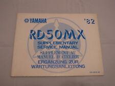 YAMAHA RD50MX RD50 supplement MANUEL D'ATELIER SERVICE MANUAL WARTUNGSANLEITUNG