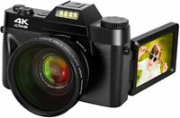 Digital Camera 48MP 4k Camera Vlogging Camera for YouTube 30FPS with WI-FI 16X