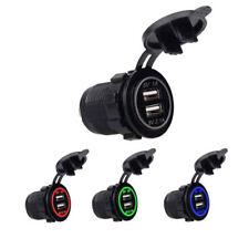 4.2A 5V Dual 2USB Charger Socket Adapter Power Outlet for 12V 24V Car Motorcycle