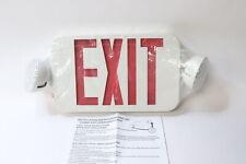 Exit Signemergency Light Combo With Battery Backup White Led