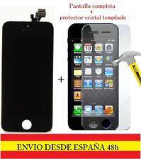 PANTALLA COMPLETA TACTIL LCD IPHONE 5 NEGRO DISPLAY+PROTECTOR CRISTAL TEMPLADO