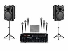 "2000 WATT Dual 12"" ipad/iphone/Android/Laptop/TV Youtube Karaoke Machine/System"